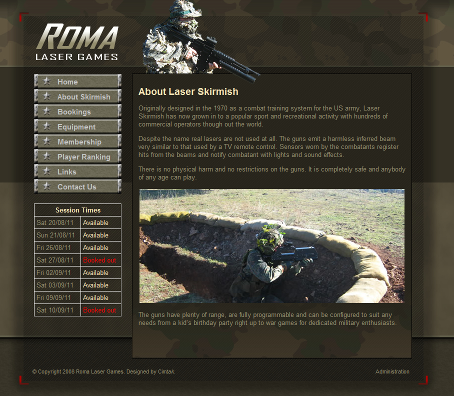 Roma Laser Games - About